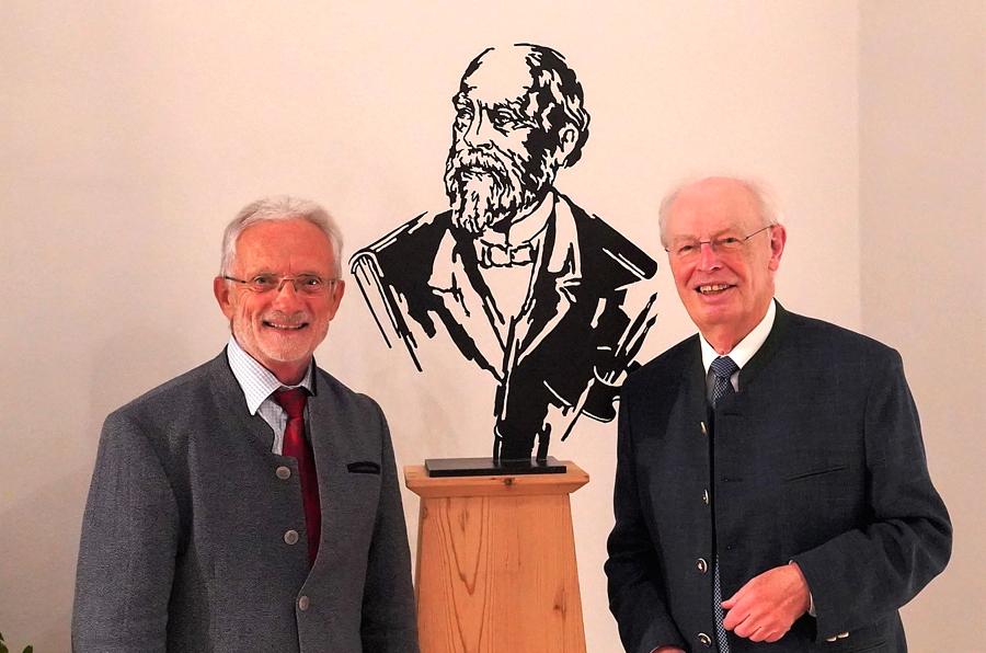 Max-Fürst-Preisverleihung, v. l. Hans Helmberger, Fritz Stahl (Foto: Helga Haselbeck)